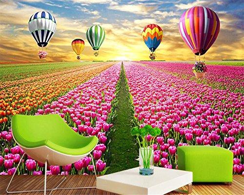 Mznm Wallpaper Voor Muren 3 D Tulpen 3D Tv Backdrop High-Definition Home Decoratie Schilderij Behang Papel De Parede 120x100cm