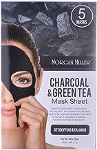 Morgan Miller Charcoal & Green Tea Mask Sheet, 5 ct