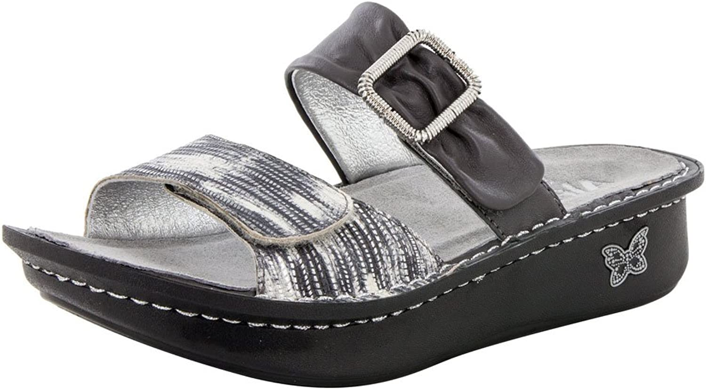 Women's Alegria, Karmen Slide Comfort Sandal PEWTER 3.9 M