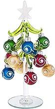 Ganz Glass Christmas Tree with Ornaments Medium Home Decor