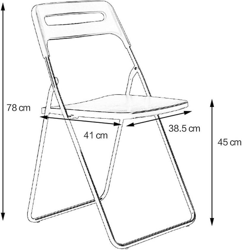 HXF- Chaise Pliante Simple Chaise Maison à Manger Chaise Durable (Color : D) E