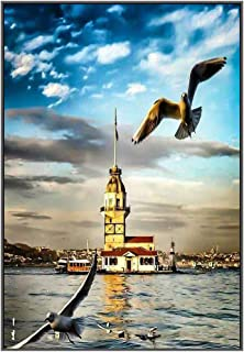 5D Diamond Painting Kits for Adults Full Drill DIY Large Lighthouse Diamond Paintings Crystal Rhinestone Embroidery Pictures Cross Stitch Arts Craft for Home Wall Decor Gifts Sea Gulls,16X20 inches