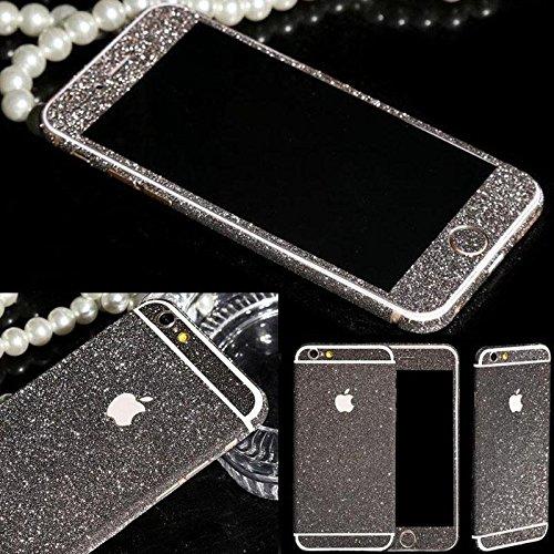 Skins4u® Glitzerfolie Skin Set im Diamond Look Bling Glamour Design iPhone 6 6s 4,7