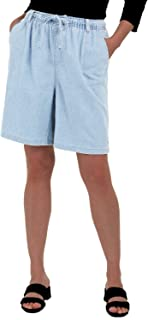 EASY 2 WEAR ® Women Denim Shorts - Faded and Washed Look- Loose Fit (XS to 4XL)