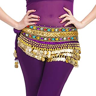 Fulision One Size Fit All Best Women's Belly Dance Hip Scarf Waistband Belt