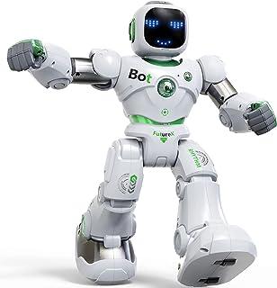 اسباب بازی های بزرگ ربات هوشمند Ruko برای کودکان ، RC Robot Carle با کنترل صدا و برنامه ، هدایا برای پسران و دختران 4-9 ساله ، قابل برنامه ریزی و تعاملی با حسگر جاذبه