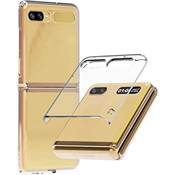 araree Nukin, Transparent Polycarbonate Case for Galaxy Z Flip, Premium Hard Coating Slim case - Clear
