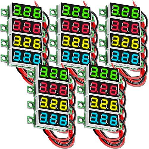 AZDelivery 5 x 0.28 Pulgadas Mini Voltimetro Digital con Pantalla LED de 7 Segmentos 2,5V - 30V, Pantalla de Voltaje, Modulo Medicion de Voltaje con E-Book incluido!