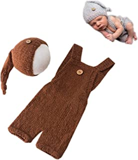 Fashion Newborn Boys Girls Baby Costume Outfits Photography Props Hat with Romper Sets