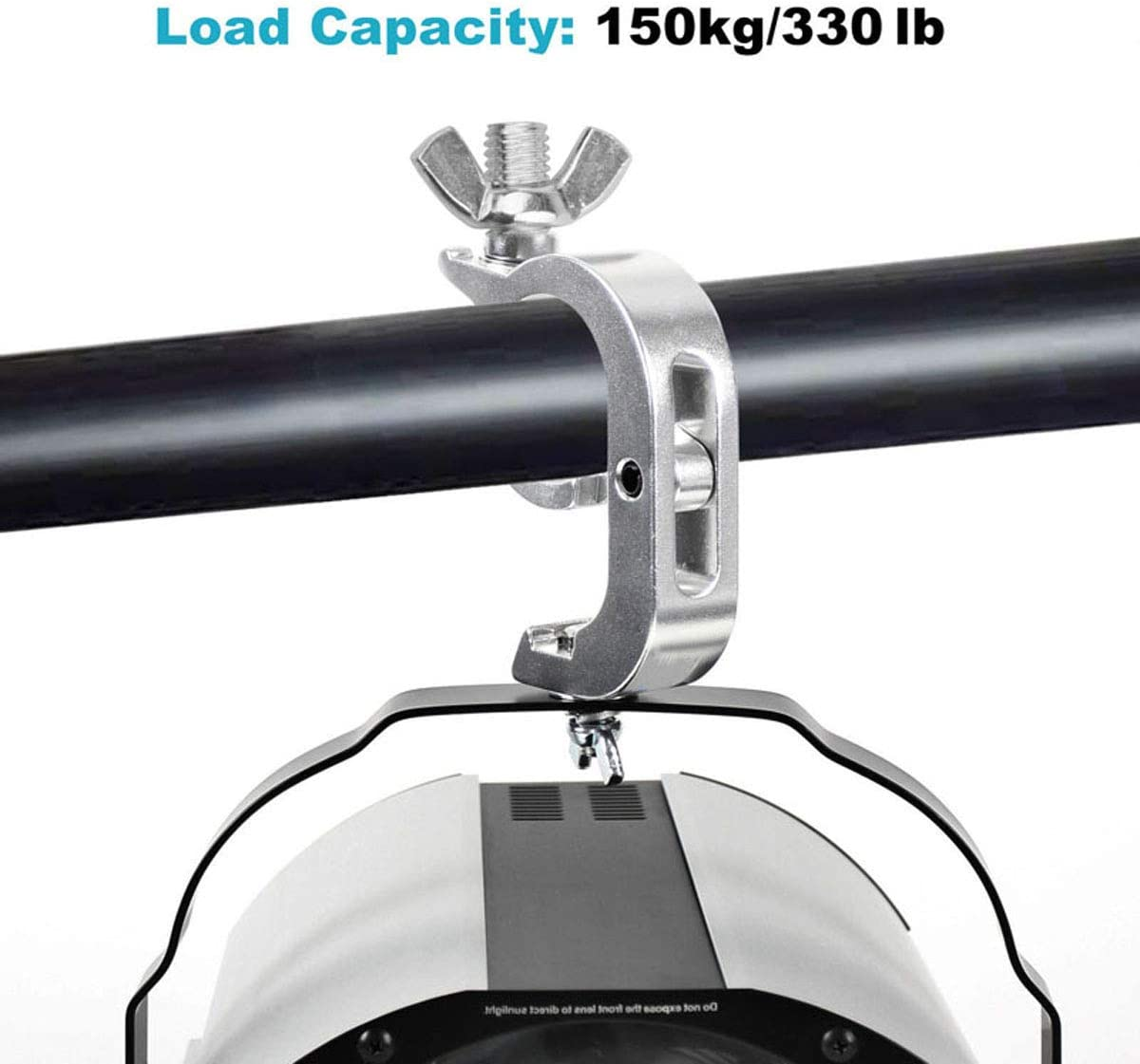 GBGS 2 inches 330 lbs Load-bearing Hook Quick Lock//Release Stage Lighting Truss Clamps 4 Pack Heavy Duty Aluminum Alloy for 1 7//8-2 1//16 Inch Pipe