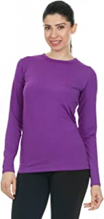 Thermajane Womens Ultra Soft Thermal Underwear Shirt – Compression Baselayer Crew Neck Top