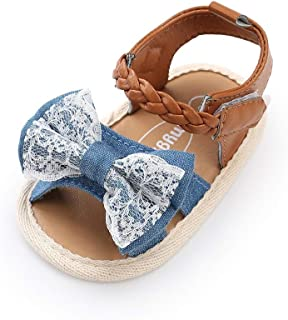 Baby Girl Sandals - Soft Sole Infant Girl Summer Crib Shoes Princess Dress Flats First Walker Shoes