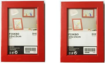 """IKEA FISKBO Frame 4x6"""" A variety of colors to choose from (Set of 2 Frames) (Red)"""