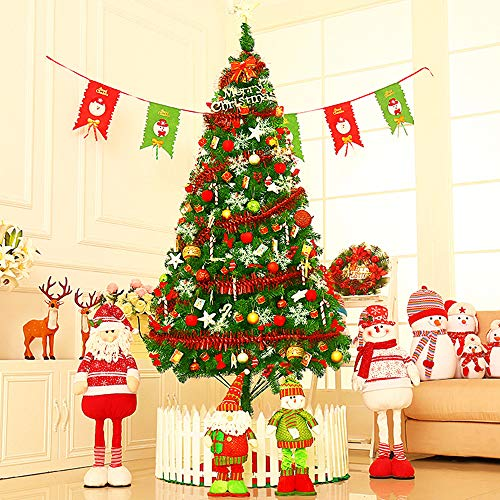 HONGFU18 2020 New Christmas Tree Artificial PVC Holiday Decoration with Metal Stand, Easy Assembly, for Home, Office, Party Decoration, Foldable Stand and Outside Decor,5Ft package2