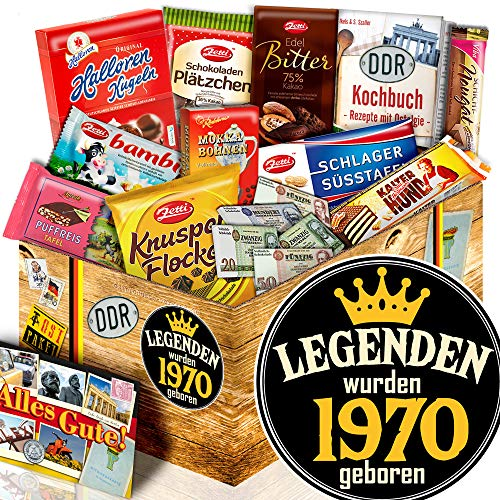 Legenden 1970 | DDR Set Schokolade | Präsentkorb 50. Geburtstag