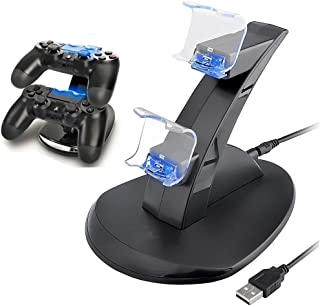 PS4 Controller Charger, Playstation 4 / PS4 Slim / PS4 PRO / PS4 Controller Charger, Charging Station, Charging Station, Dual USB Fast Charging Ps4 Station LED Indicator for Sony PS4 Controller by IHK