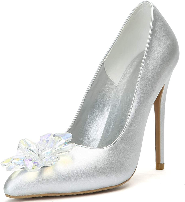 Women's Vintage Pointy Toe High Heel Slip On Pumps, Elegant Kitten Heel Cushioned Dress Party Basic shoes