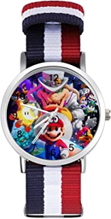 Mario - Reloj de ocio para adultos, moderno, hermoso y personalizado de aleación, reloj deportivo casual para hombres y mu...