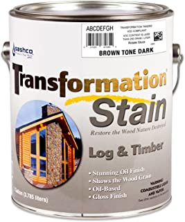 Sashco Transformation Log and Timber Stain, 1 Gallon Pail, Brown Tone Dark (Pack of 1)