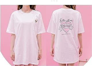 Cute Tshirts Women's White T-Shirt Printed Roses Cartoon Bunny Ladies Tshirts Loose Tee 2019 Summer