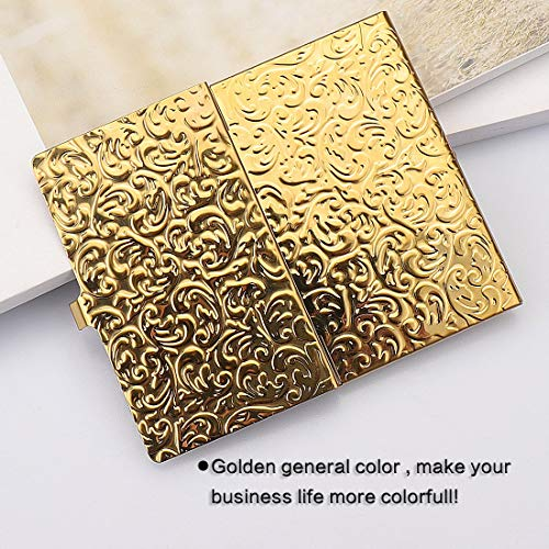 Gold Embossed Damask Business Card Case Photo #5