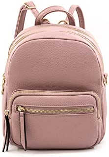EMPERIA Klara Small Faux Leather Mini Fashion 3 Way Carry Backpack Casual Lightweight Rucksack Daypack Convertible for Women