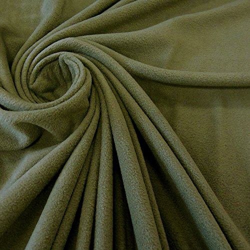 Stoff Meterware Fleece Polar - Fleece weich kuschelig oliv army grün Kleiderstoff Preis pro Meter