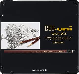 Uni Hi-Uni Wooden Pencil Art Set - 10B to 10H - Box of 22 (HUAS)
