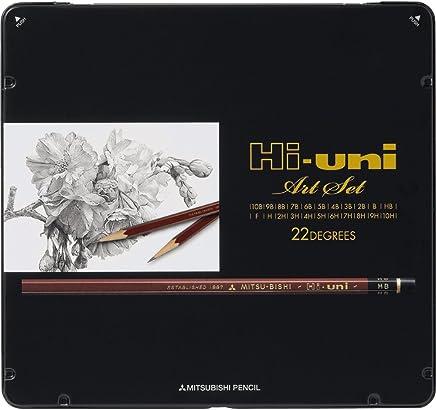 三菱鉛筆 鉛筆 ハイユニ アートセット 22本入 HUAS