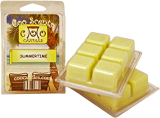 3 Pack of Coo Candles Soy Wickless Candle Bar Wax Melts - Summertime Scent - Smells like a Coconut Pina Colada!