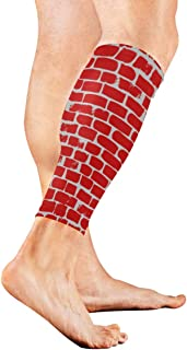 Brown Brick Wallhand Drawn Calf Compression Sleeve Leg Compression Socks For Shin Splint Calf Pain Relief Men Women And Runners Improves Circulation Recovery