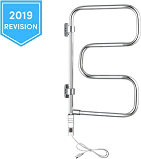 WarmlyYours 4-Bar Elements Towel Warmer, Plug-in, Polished Chrome