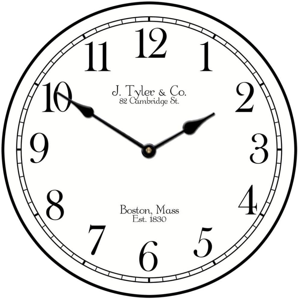 Black Tie Wall Clock Available in Max 66% OFF Sales for sale 2-3 8 Sizes Most Ship