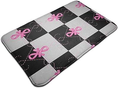Pink Ribbon_842 Personalized Custom Doormats Indoor/Outdoor Doormat Door Mats Non Slip Rubber Kitchen Rugs 23.6 x 15.8 inch