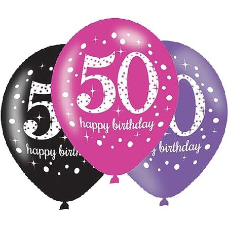 Sparkling Hängedeko Zahl 50 Happy Birthday Partydeko Geburtstag Deko Schwarz