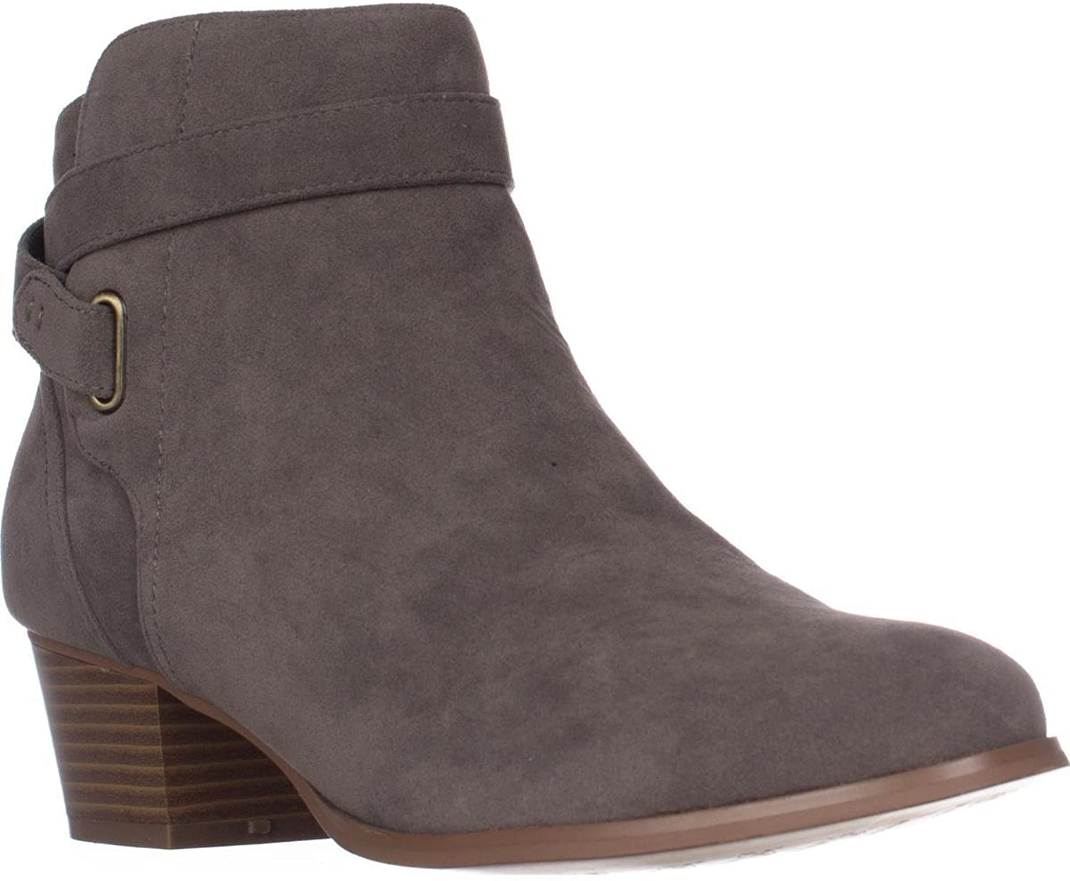 Giani Bernini Womens Oleesia Faux Suede Ankle Booties Taupe 8.5 Medium (B,M)