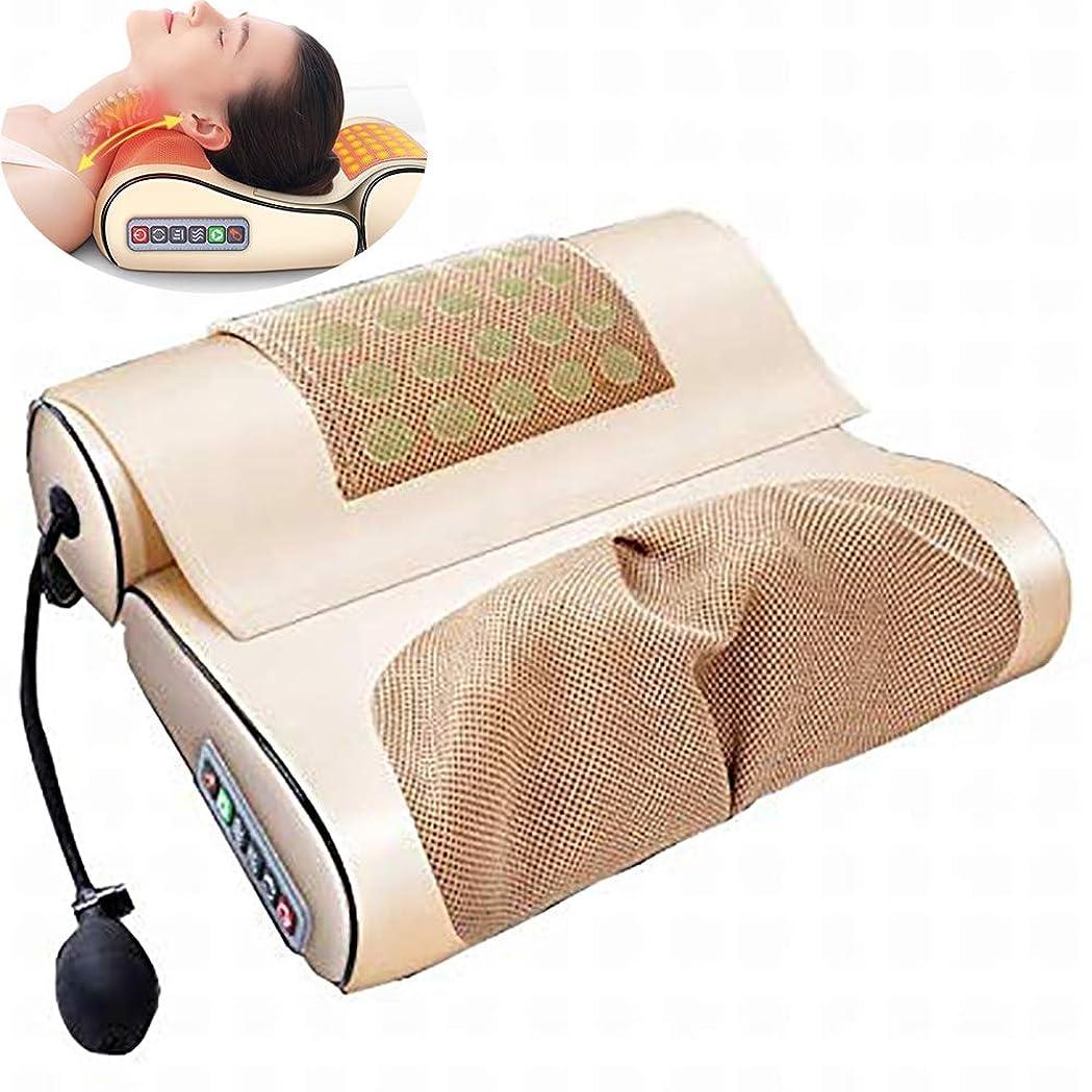立ち向かうの面では砦電気頚部マッサージャー、多機能マッサージ枕ホームフルボディクッション屋内使用家族のために使用される調節可能な長続きがする快適さ