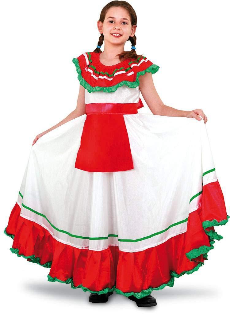 Disfraz de Mejicana niña en varias tallas para Carnaval: Amazon.es ...