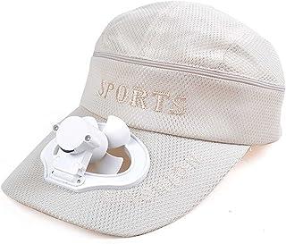 Adesign Casquette de Baseball avec Ventilateur USB Summer Outdoor Hat Cap, Le Ventilateur de Refroidissement pour Le Sport...