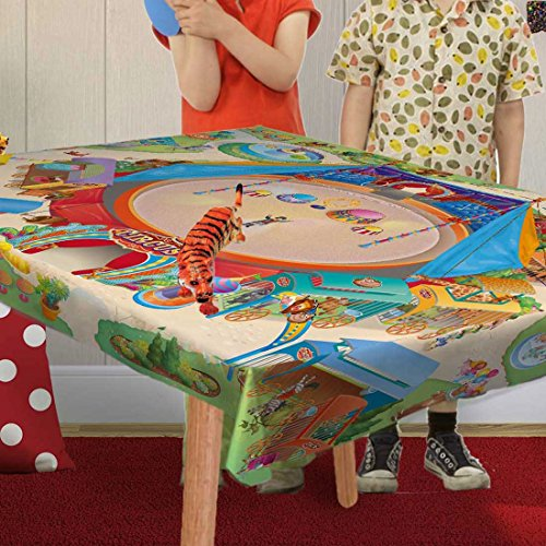 HOK - Nappe Pour Jouer - Cirque Multicolore - 100 X 140 cm - Made in Europe