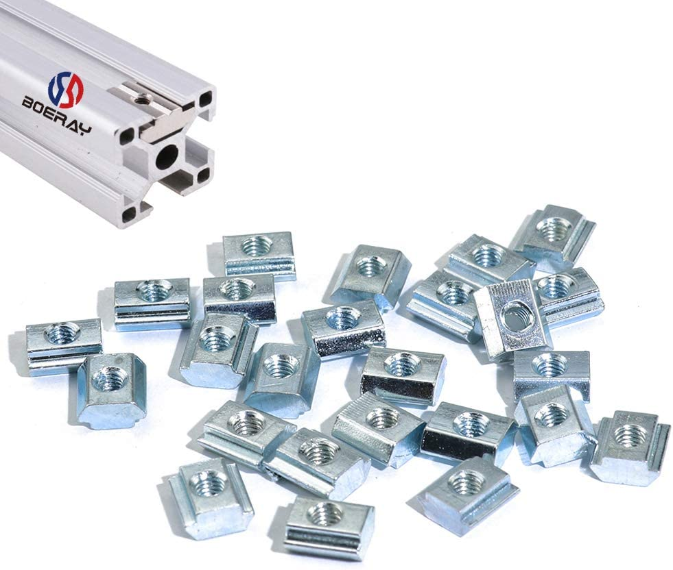 Boeray 50pcs M5 Slide in Indefinitely T Tee Max 45% OFF Sliding for Nut Aluminum