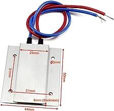 JIAN 2 STKS Thermostatische PTC-verwarmer Element 50x44x6mm 12V 60 / 100C PTC-verwarmer Plaat Constant Temperatuur Verwarm...