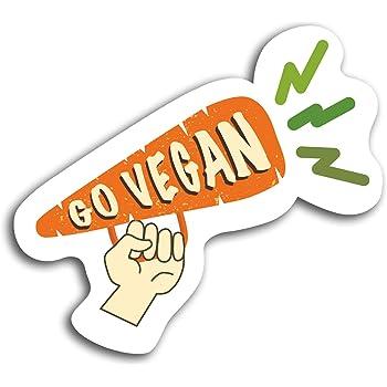 Go vegan Sticker for Bumper Travel Car Laptop Tablet Fridge Door Book #02