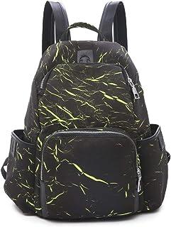 Personality Print Backpack Travel School Shoulder Bag Daypack (Color : Green)