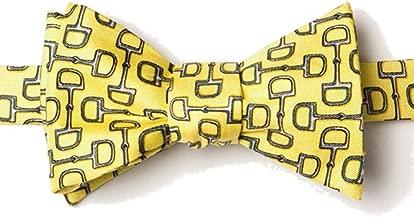 Men's 100% Silk Equestrian Horse Bit By Bit Butterfly Self Tie Bow Tie Neckwear