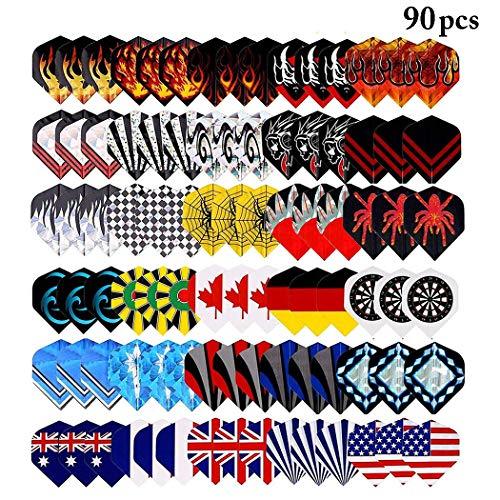 Fansport 90 STÜCKE Dart Flight Kreative Verschiedene Mode Kunststoff Dart Wing Dart Supplies