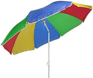 Parasol 180 cm strandparaply balkong parasoll paraply regnbågsfärger