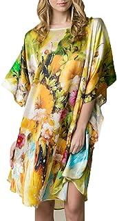 262fa84b54c3 Pigiama Donna Seta, Pura Seta Raso Crepe da Donna Kimono Pigiama Camicia da  Notte Lingerie