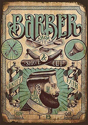 Barber Metall Blechschild Retro Metall gemalt Kunst Poster Dekoration Plaque Warnung Bar Cafe Garage Party Game Room Hauptdekoration