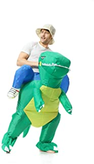 EONPOW Inflatable Dinosaur Costume Riding Dinosaur Cosplay Costume Halloween Funny Suit for Adult